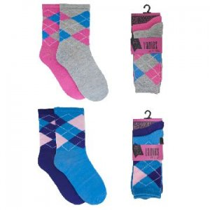 LADIES 2 PACK ARGYLE