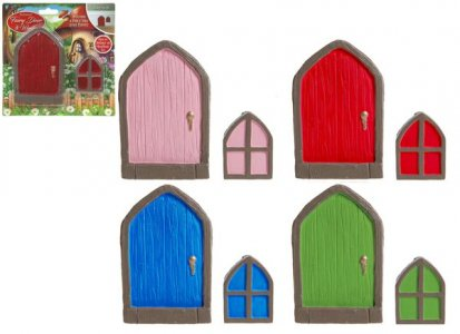 SMALL POLYSTONE FAIRY SKIRTING DOOR & WINDOWS 4 ASST