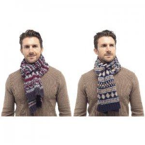 MENS BRUSHED ACRYLIC FAIRISLE SCARF