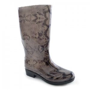 LADIES SNAKE PRINT WELLINGTON