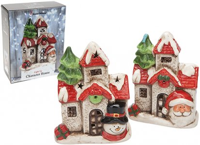 20CM LIGHT UP HOUSE 2 ASSORTED