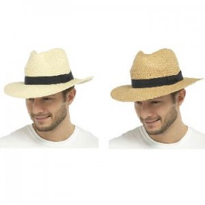 ADULTS STRAW HAT WIT