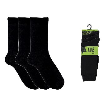 MENS 3 PACK CLASSIC BLACK SOCKS - Click Image to Close