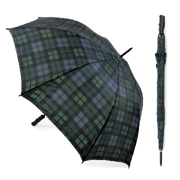 BLACK WATCH TARTAN AUTO OPEN GOLF UMBRELLA - Click Image to Close